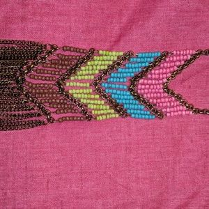 Funky bright long necklace